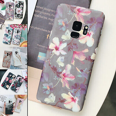 For Samsung S7 S8/S9+Note9 Ultra Thin Pattern Shockproof Scrub Hard Case Cover