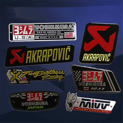 Aluminum Motorcycle Exhaust Pipe Decal Sticker for Scorpio Yoshimura Akrapovic