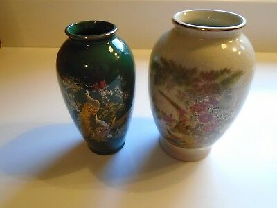 Beautiful Pair Of Ray Control Japanese Vases