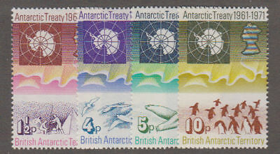 Br. Ant. Territory - 1971 Antarctic Treaty Set. Sc. #39-42 SG #38-41. Mint