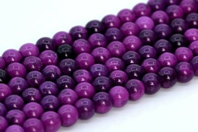 BD1000 20 Jade Beads 4mm Lilac Purple Dyed Gemstone Beads 4mm Set of 20