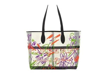 8f8946fb0b6d BURBERRY DOODLETOTE CHECK Reversible Canvas Tote -  499.19