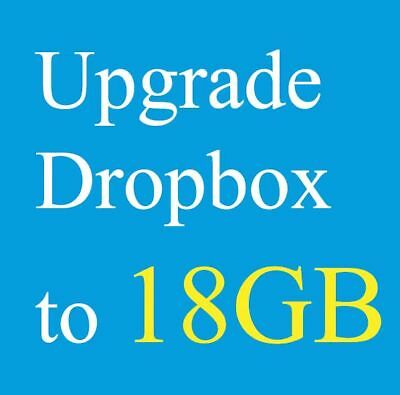 [1000+ Sold Re-listing] Upgrade Dropbox to 18GB Lifetime Space