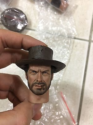 IN stock Custom Made 1/6 Scale Clint Eastwood head sculpt PVC For Hot Toys