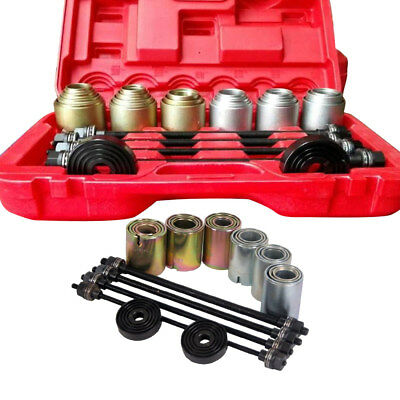 Universal Press&Pull Sleeve Kit Remove Indtall Bushes Bearings Garage Tool +Case