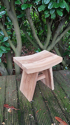 Top Quality TEAK WOOD natural stool for bathroom shower qubicle  47x47x31cm