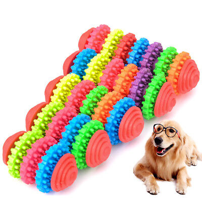 Rubber Pet Dog Puppy Cat Dental Teething Healthy Non-toxic Teeth Gums Chew Toy