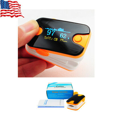 USA Fast Fingertip Pulse Oximeter Blood Oxygen Spo2 Heart Rate Monitor Meter US