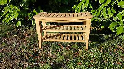 Top Quality TEAK WOOD natural stool for bathroom shower qubicle  69x46x35cm