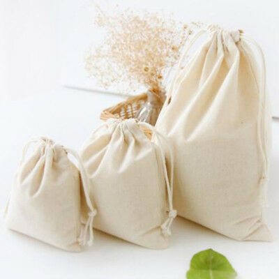 Linen Cotton Drawstring Package Storage Bag for Outdoor Travel Dry Clothes Toys
