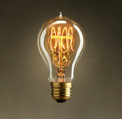 Vintage Industrial Retro Edison LED Bulb Light Lamp A19 220V home decor 40W