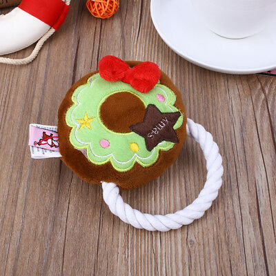 E3A7 Christmas Festival Pet Dog Doggy Chew Squeeze Squeaky Play Training Toys