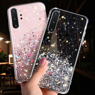 Glitter Plating Soft TPU Case Cover For Samsung Note 10 Plus S10 A70 A50 A7 2018