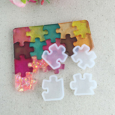 Silicone Resin Jigsaw Jewellery Making Mould Necklace Earring Mold Pendant Craft