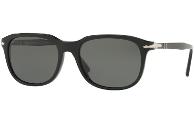 186a3669a01 Authentic Persol 3191S - 95 58 Sunglasses Black   Green Polarized  NEW  55mm