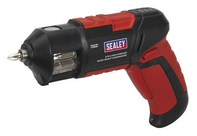 Cordless Screwdriver Quick Select 14Pc 3.7V Lithium-Ion Usb From Sealey