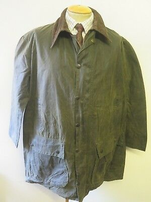 "Vintage A200 Barbour Border Waxed jacket - XL 48"" Euro 58 in Sage Green"