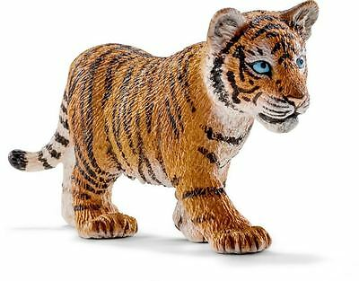 Schleich 14730 Standing Tiger Cub Toy Figure, For Ages 3+