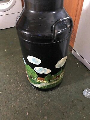 LOVELY VINTAGE OIL PAINTED RUSTIC MILK CHURN - LOVELY DETAIL **LooK**