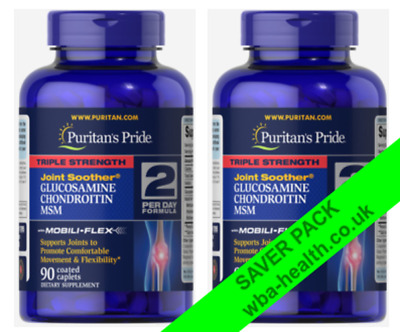 Puritans Pride Triple Strength Glucosamine, Chondroitin & MSM Joint Soother X180