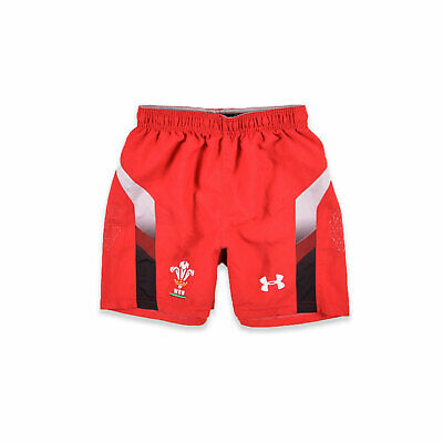 Under Armour Junge Kinder Shorts Hose Gr.140 Welsh Rugby Union Loose Rot, 56928
