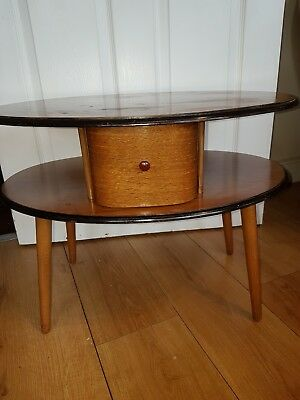 Vintage Mid Century 2 Tier Sewing/end Table