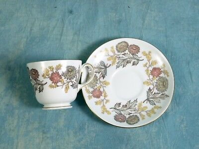 Wedgwood LICHFIELD Coffee Tea cup Saucer Bone China England