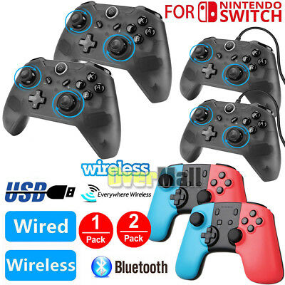 2 Pack Wireless Pro Controller Gamepad Joypad Remote For Nintendo Switch Console