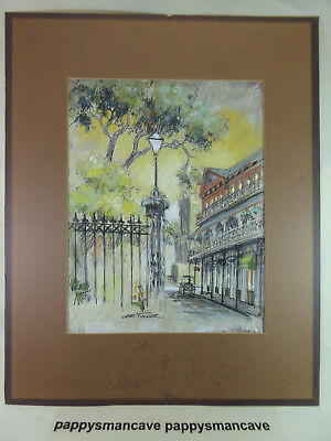 ORIGINAL ~LEE TUCKER~INK WATERCOLOR WASH PAINTING~SIGNED~ NEW ORLEANS~~ a56