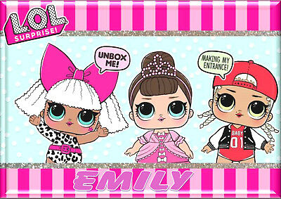 Lol Dolls Personalised A4 Laminated dinner Placemat Place Mat