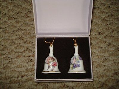 NIB New Flower Fairies Cicely Mary Barker Miniature Porcelain Bell Set Germany