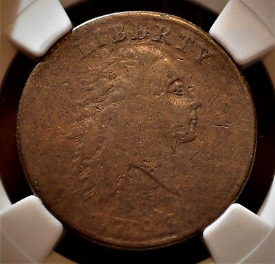 1793 1C  Chain Cent, Large Cent S-2 R4+ Rarest Of All Chains, Ngc  Vf20