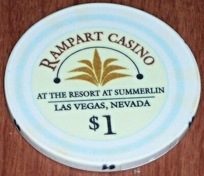 $1 1St Edition Gaming Chip From The Rampart Casino Las Vegas