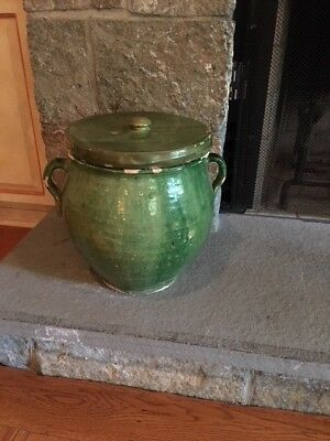 19th c. French Green Glazed  Pot