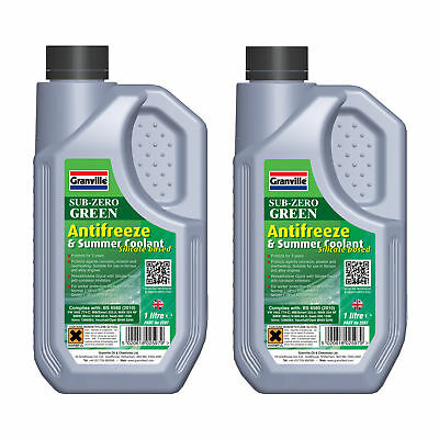 2 x Granville GREEN Silicate Car Antifreeze Summer Coolant Concentrate 2 Litres