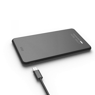Slim Power Bank Thin, 5000mAh 2.1A Mini External Phone Battery Pack Dual Outlet