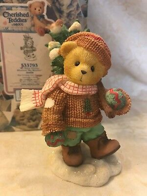 Cherished Teddies Justin We Share Forever w Box