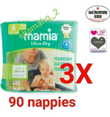 Aldi Anti leak Nappies  Mamia Extra Large Nappies Size 6 ~ 3 Pack Of 30 = 90