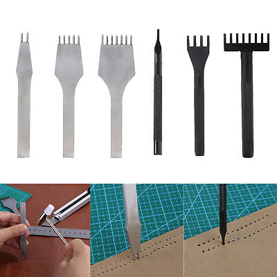 4mm Round&Square Leather Craft Tools Hole Chisel Stitching Punch Handmade Tools
