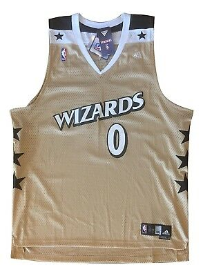 cb51fb0fc46 11 authentic basketball jersey 016fc 4de9e  official gilbert arenas  washington wizards gold adidas swingman mens sewn jersey 3xl nwot 4ed57  43980
