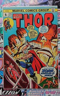 Thor (Vol 1) # 215. pence VARIANT Marvel Comics BRONZE Age. very good condition