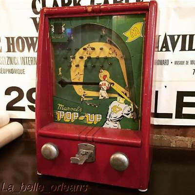 1930s MARVEL'S POP UP PENNY COIN OP BASEBALL GAME. WORKS !! MUST SEE . L@@k!!