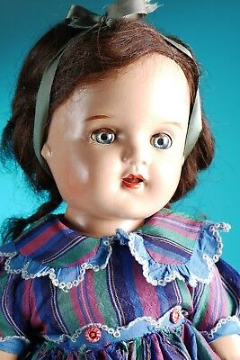 """Early 1940's  composition Arranbee Nannette doll 21"""""""