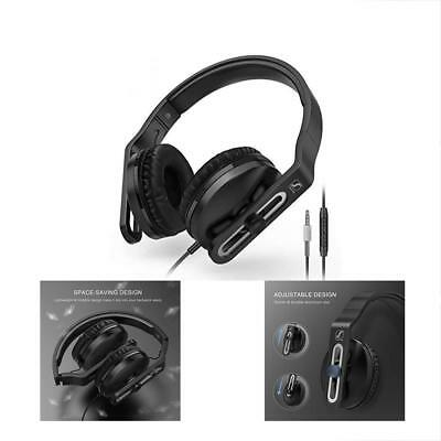 On Ear Headphones Microphone - Lightweight & Foldable Wired Volume Control PC
