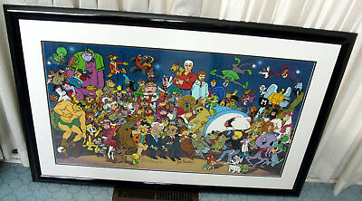 All Together Now Hanna Barbera Signed Hand Painted Limited Ed Animation Cel