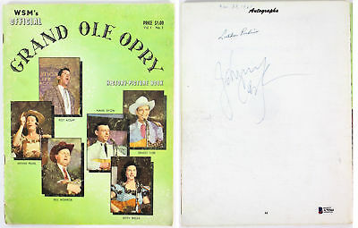 Johnny Cash & Luther Perkins Signed 8.5x11 Grand Ole Opry Program BAS #A79364