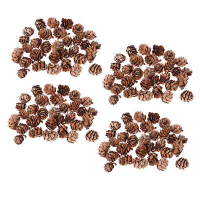 120pcs Vintage Pine Cones for Photo Props Wedding Party Christmas Decoration