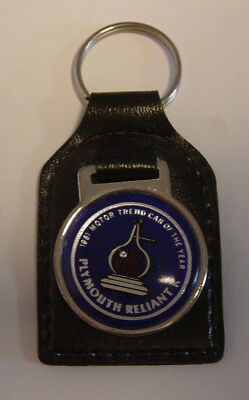 NOS 1981 Plymouth Reliant K Motor Trend Car Of The Year Key Ring Chain New 81