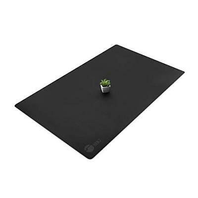 SIIG Large Artificial Leather Smooth Desk Mat Protector - Black (CE-PD0412-S1)