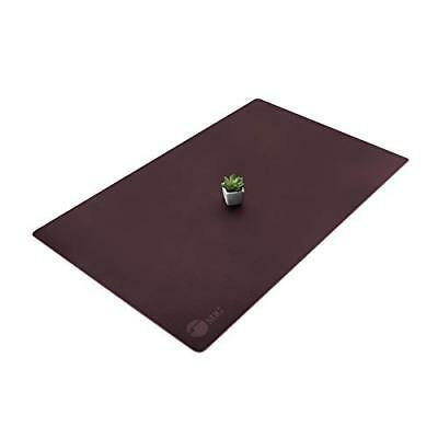 SIIG Large Artificial Leather Smooth Desk Mat Protector - Dark Brown (CE-PD0512-